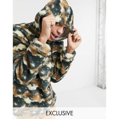 リクレイムドヴィンテージ パーカー スウェット メンズ Reclaimed vintage inspired hoodie in fleece エイソス ASOS マルチカラー
