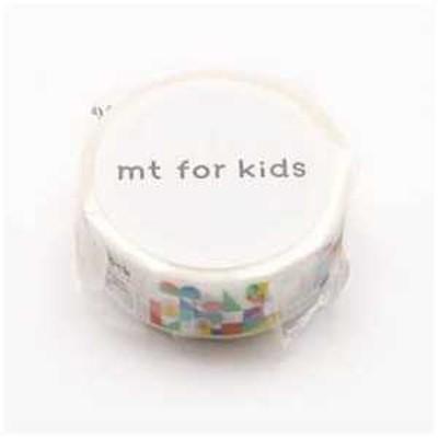 カモ井加工紙 「マスキングテープ」mt for kids 積み木 MT01KID026