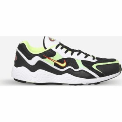 ナイキ NIKE メンズ スニーカー シューズ・靴 Zoom Alpha leather trainers BLACK VOLT HABENERO