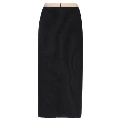 CALVIN KLEIN 205W39NYC 7分丈スカート ブラック L ウール 70% / カシミヤ 30% / ナイロン / ポリウレタン /
