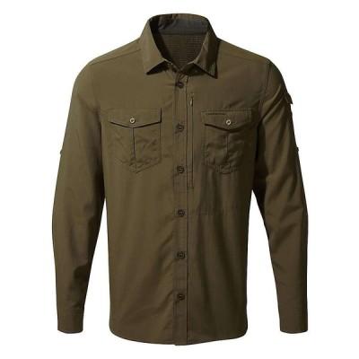 クラッグホッパーズ Craghoppers メンズ シャツ トップス NosiLife Adventure LS Shirt Dark Moss