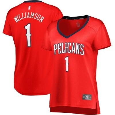 ファナティクス ブランデッド レディース Tシャツ トップス Zion Williamson New Orleans Pelicans Fanatics Branded Women's Fast Break Replica Jersey