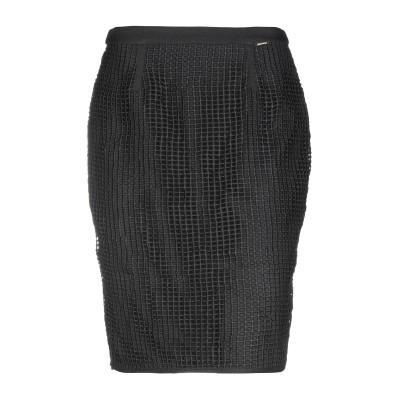 FRACOMINA ひざ丈スカート ブラック 40 ポリエステル 100% / ポリウレタン ひざ丈スカート
