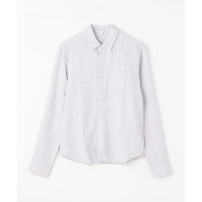 (JAMES PERSE/ジェームス パース)リネン ロングスリーブ ポケットシャツ MJZ3376/メンズ 14グレー系