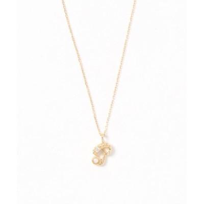 sowi / K10ダイヤモンド パール イニシャル ネックレス(M-Z) WOMEN アクセサリー > ネックレス