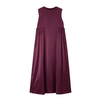 ADAM LIPPES 7分丈ワンピース・ドレス ディープパープル 4 シルク 100% 7分丈ワンピース・ドレス