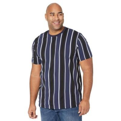 ジョニー ビッグ メンズ シャツ トップス Big & Tall Vertical Stripe Longline Tee