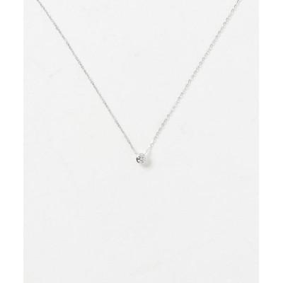 ネックレス K18WG ダイヤモンド ネックレス