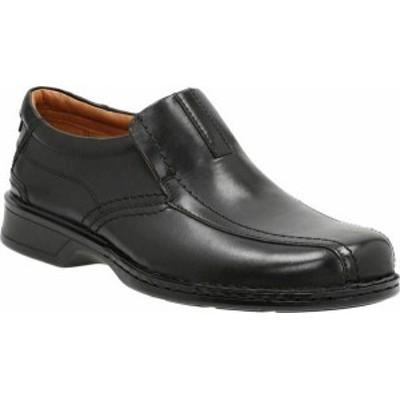 クラークス メンズ ドレスシューズ シューズ Men's Clarks Escalade Step Slip-On Black Full Grain Leather/Leather