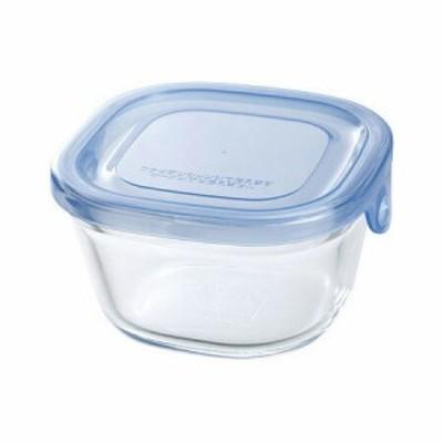 Iwaki NEWパック&レンジ 200ml アクアブルー KBT3200BLN 食品保存容器 収納 透明 電子レンジ AGCテク