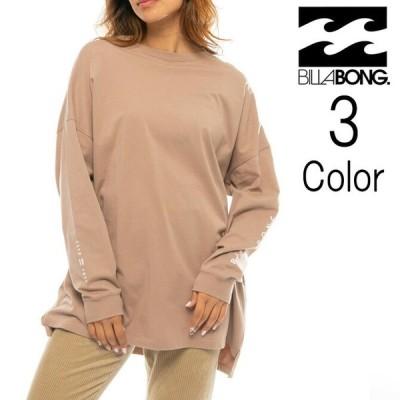 ビラボン Billabong レディース スリーブロゴ 長袖Tシャツ ba014054