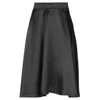 MANGANO 7分丈スカート ブラック S ポリエステル 100% 7分丈スカート