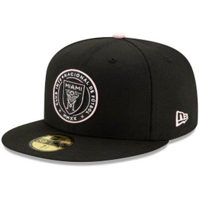 ニューエラ メンズ 帽子 アクセサリー Inter Miami CF New Era Repeat 59FIFTY Fitted Hat Black