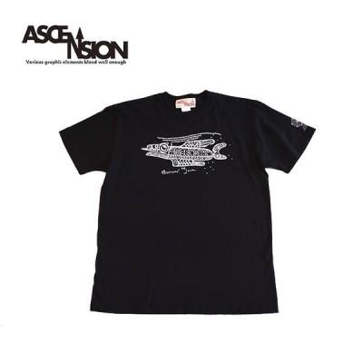 ASCENSION(アセンション)Ancient fish TEE Tシャツ メンズ Tシャツ アウトドア as-727