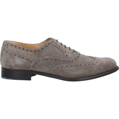 SCICCO メンズ 革靴・ビジネスシューズ シューズ・靴 Laced Shoes Grey