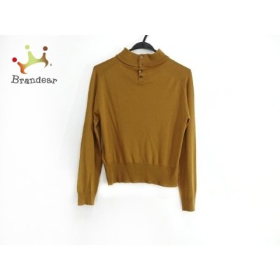マーガレットハウエル 長袖セーター サイズ2 M レディース ブラウン ×JOHN SMEDLEY/ハイネック 新着 20210127