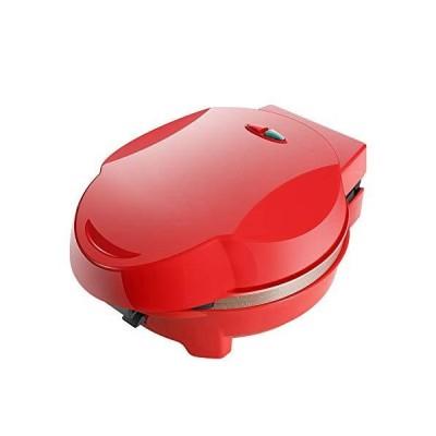 ワッフル鉄ステンレス鋼ノンスティックコーティング調節可能な温度制御と型、熱絶縁ハウジング、700W,赤
