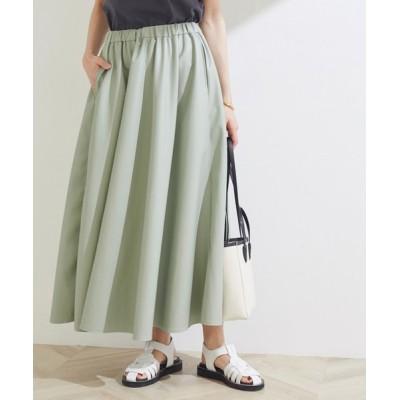 ROPE' / エコレザーギャザースカート WOMEN スカート > スカート