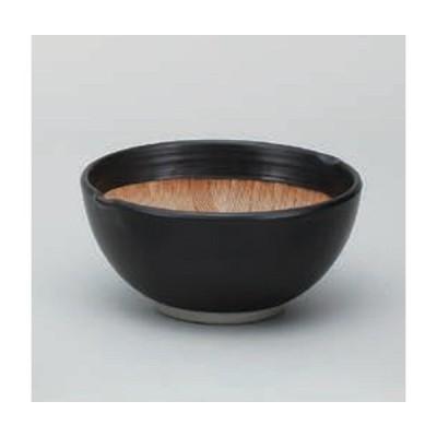 すり鉢 黒マット波紋 3.8寸 陶器 鉢 美濃焼