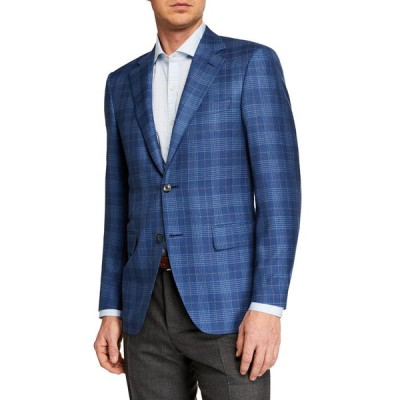 カナーリ メンズ ジャケット・ブルゾン アウター Men's Plaid Sportcoat