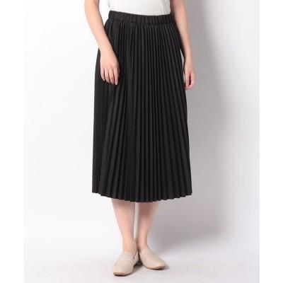 MARcourt 【MIDIUMISOLID】pleats skirt(BLACK)【返品不可商品】