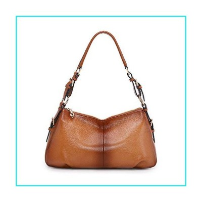 Kattee Soft Leather Hobo handbags for Women, Genuine Top Handle Vintage Shoulder purses(Sorrel)【並行輸入品】