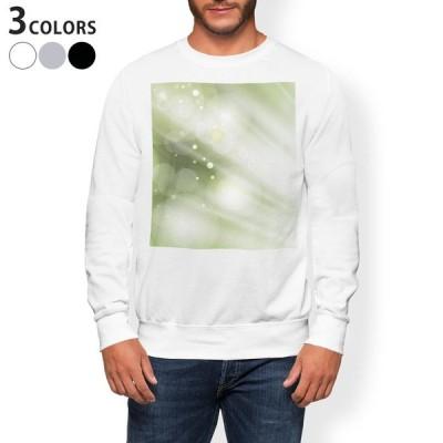 トレーナー メンズ 長袖 ホワイト グレー ブラック XS S M L XL 2XL sweatshirt trainer 裏起毛 スウェット シンプル 模様 緑 001842