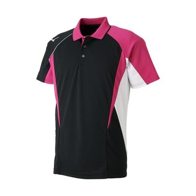 ミズノ(MIZUNO) メンズ レディース テニス ゲームシャツ ブラック 62JA8104 09 ポロシャツ 半袖 試合 部活 トレーニング トップス