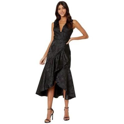 モニーク ルイリエ レディース ワンピース トップス Sleeveless Jacquard Cocktail Dress