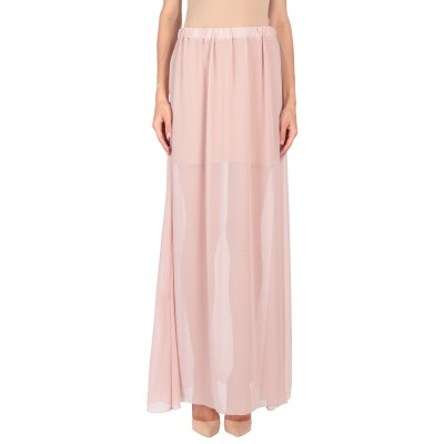 LUCILLE ロングスカート ライトピンク 44 100% ポリエステル ロングスカート