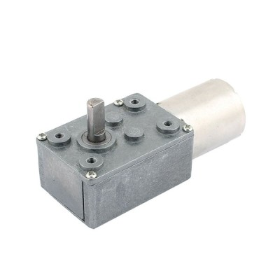 uxcell ギヤードモータ 金属材質 6mmx13mmシャフト インテリジェントガスメーター 12V パワーターボワーム