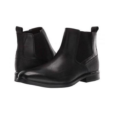 Steve Madden スティーブマデン メンズ 男性用 シューズ 靴 ブーツ チェルシーブーツ Affinity Chelsea Boot - Black Leather