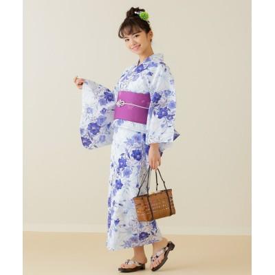 小さいサイズ 浴衣2点セット(浴衣+作り帯) 【小さいサイズ・小柄・プチ】浴衣(ゆかた)Yukata