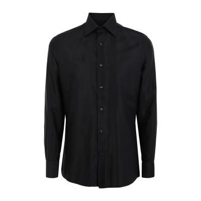 ARDING & HOBBS シャツ ブラック 37 コットン 50% / レーヨン 50% シャツ