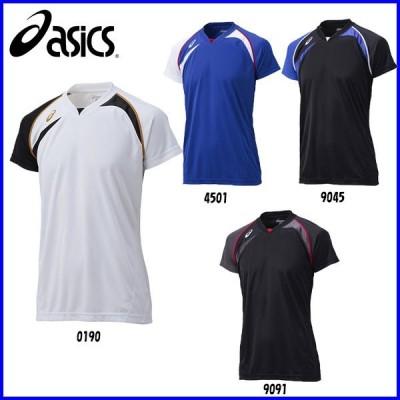 ◇ユニフォーム製作OK アシックス ユニセックス バレーボール 半袖 ゲームシャツHS バレーボールウェア XW1318