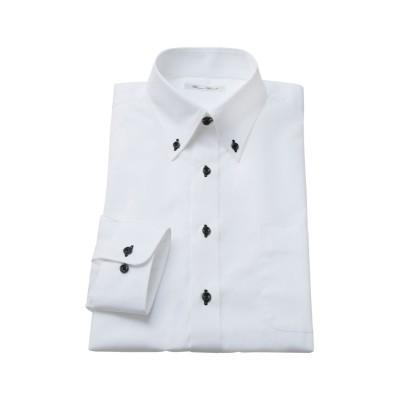 形態安定長袖ワイシャツ(ボタンダウン) 大きいサイズメンズ (ワイシャツ)Shirts,