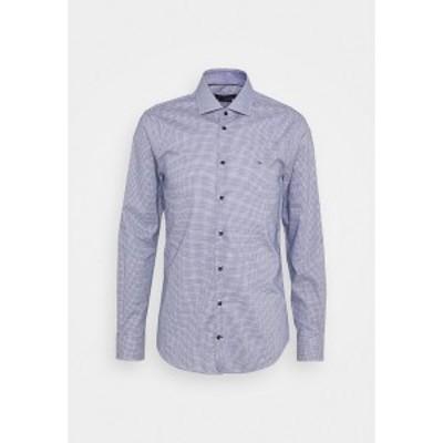 トミー ヒルフィガー メンズ シャツ トップス MINI CHECK SLIM FIT - Shirt - navy/white navy/white