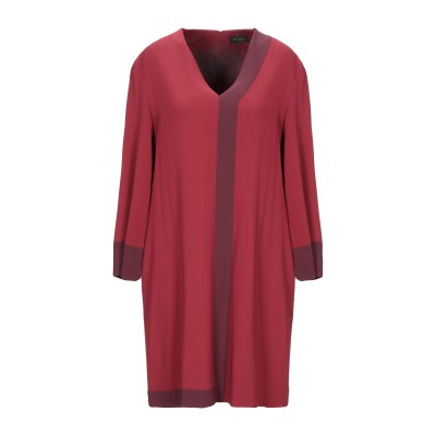 ANTONELLI ミニワンピース&ドレス ボルドー 46 レーヨン 70% / アセテート 26% / ポリウレタン 4% ミニワンピース&ドレス