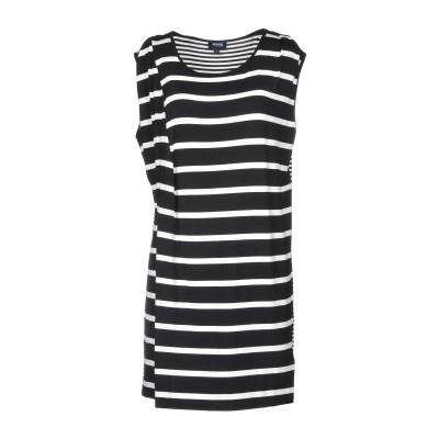 アルマーニ ジーンズ ARMANI JEANS ミニワンピース&ドレス ブラック 42 95% レーヨン 5% ポリウレタン ミニワンピース&ドレス
