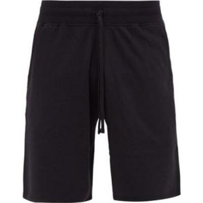 レイニングチャンプ Reigning Champ メンズ ショートパンツ ボトムス・パンツ Logo-patch cotton-terry shorts Black
