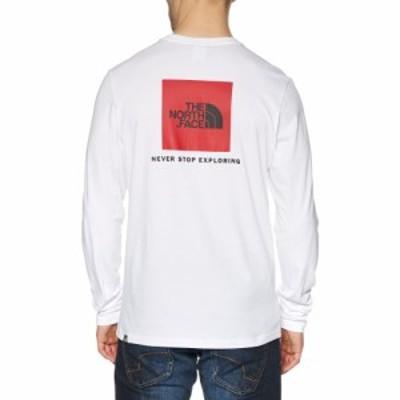 ザ ノースフェイス The North Face メンズ 長袖Tシャツ トップス north face red box long sleeve t-shirt TNF White