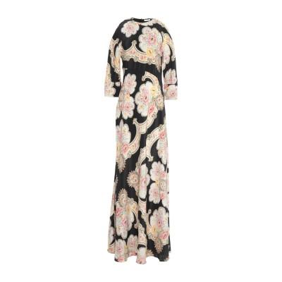 VILSHENKO ロングワンピース&ドレス ブラック 10 シルク 100% ロングワンピース&ドレス