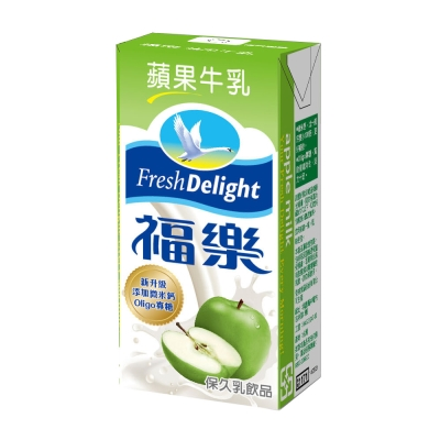 福樂 蘋果口味保久乳(200mlx24入)