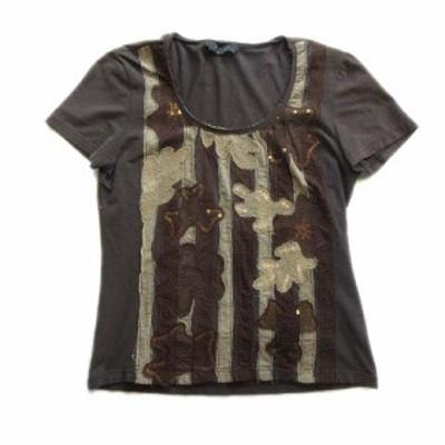 【中古】マックスマーラ ウィークエンドライン MAX MARA WEEKEND LINE パッチワーク Tシャツ 総柄 カットソー