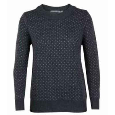 アイスブレーカー ニット・セーター Waypoint Crewe Sweater Char Heather/Steel Heather