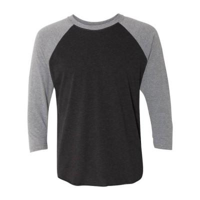 ユニセックス 衣類 トップス Unisex Triblend Three-Quarter Sleeve Raglan - 6051 - Next Level - NIB Tシャツ