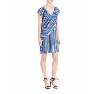 テスギバーソン レディース ワンピース Pieced Stripe-Print Cocoon Dress