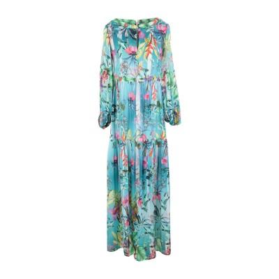 BLACK CORAL ロングワンピース&ドレス アジュールブルー 40 コットン 70% / シルク 30% ロングワンピース&ドレス