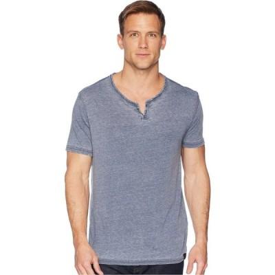 ラッキーブランド Lucky Brand メンズ トップス Burnout Button Notch Shirt American Navy