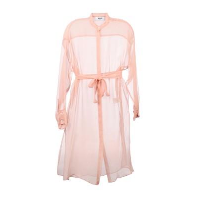 エムエスジーエム MSGM 7分丈ワンピース・ドレス ピンク 44 シルク 100% 7分丈ワンピース・ドレス